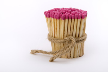 matches gathered into a tight bundle