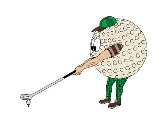 Cartoon Golf Ball