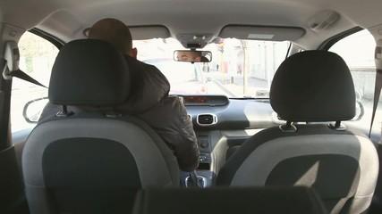 man driving hi speed