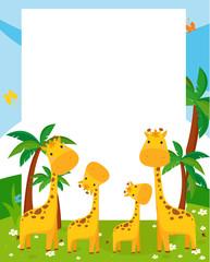 illustration frame by giraffe