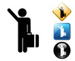Arriving flights pictogram and signs