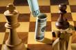 Schach mit Dollar und Euro