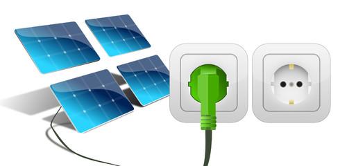 Steckodose weiß Stecker Solar