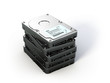 Stack of Hard Disk Drives