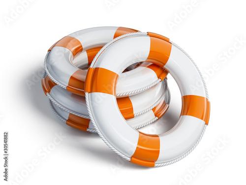 Leinwandbild Motiv Buoy rings