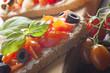 Bruschetta Appetizer Close Up