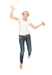 happy and carefree teenage girl