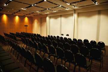 Empty chairs in lecture hall