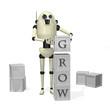 Robot building blocks, grow