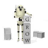 Robot building blocks, grow