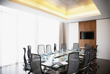 Empty modern conference room in office