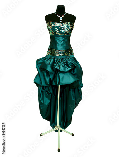 evening gown on a mannequin
