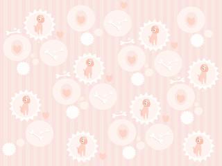 Cute poodle seamless pattern