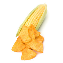 Corn cob and corn chips