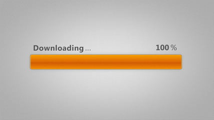 Downloading bar - Orange