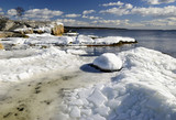 Ice age Scandinavian landscape poster
