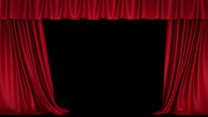 Opening curtain.