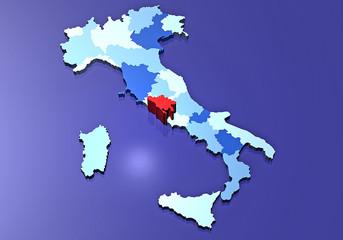 Italia cartina regioni provincia Roma