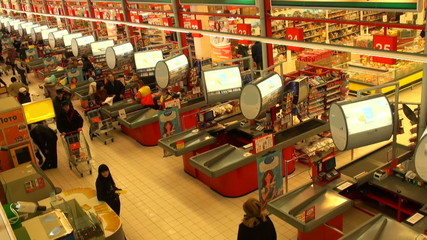 Buyers in a supermarket