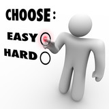 Choose Easy Or Hard - Difficulty Levels poster