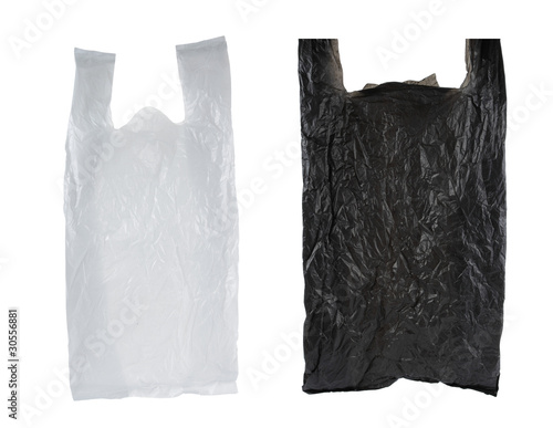 black and white plastic bag
