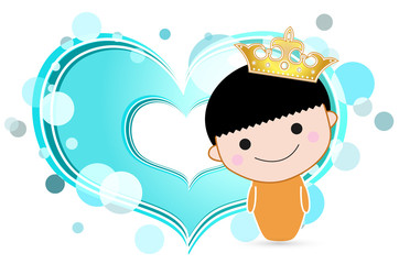 boy with golden crown