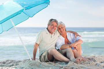 Mature couple on the beach
