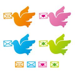 メールを運ぶ伝書鳩