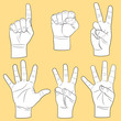 Human hands set