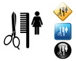 Beauty salon pictogram and signs.zip