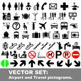 Vector set: Airport and Travel pictograms