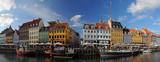 Fototapety Copenhagen Nyhavh, historical harbor, Denmark
