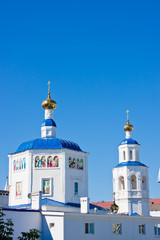 beautiful temple on a background blue sky, city Kazan