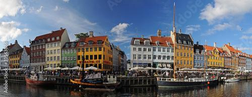 Copenhagen Nyhavh, historical harbor, Denmark