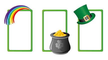 Set of St. Patrick`s day banners, part 5, vector illustration