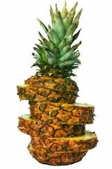 Sliced freesh ananas