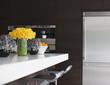 Stainless steel refrigerator in modern kitchen