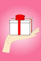Подарочная коробочка в руке
