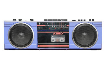 Old vintage stereo cassette/radio recorder