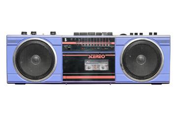 Old vintage stereo cassette/radio recorder