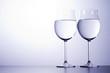 Wineglasses, decorative lighting.