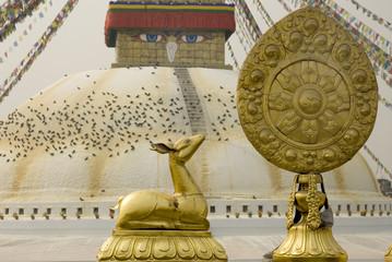 Golden Brahma Symbol in front of Boudha Nath Stupa 2.