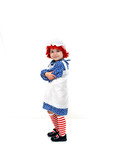 Apron clad rag doll poster