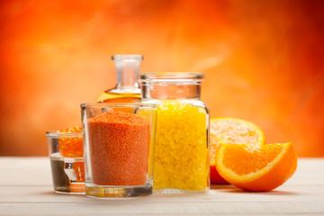 Orange aromatherapy - bath salt