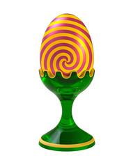Egg on the pedestal