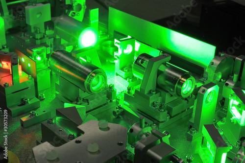 Leinwanddruck Bild laser science