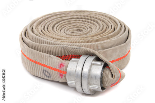 Leinwanddruck Bild fire fighter hose