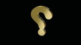 animation of  3d golden question mark