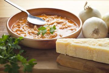Trippa alla Parmigiana. Typical Italian Soup