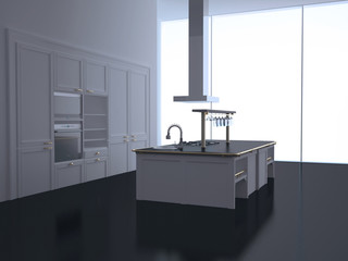 Modern new large kitchen